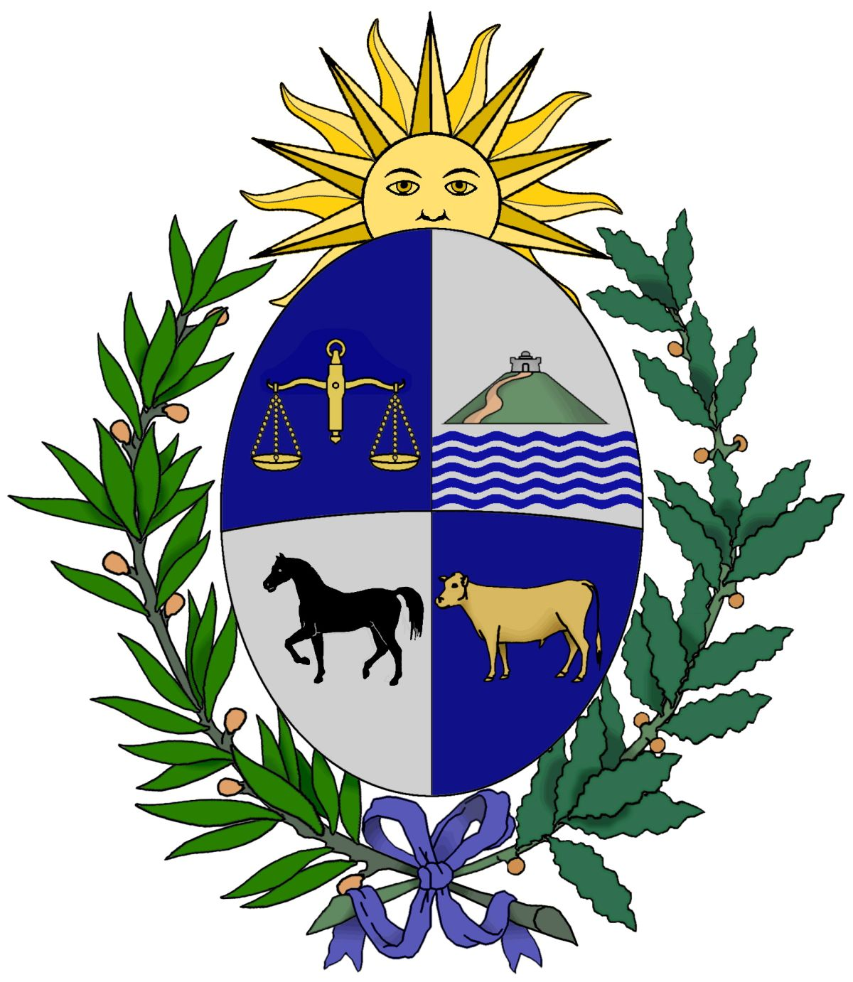 Meaning Of The Uruguayan Coat Of Arms Steemit