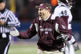Mississippi State Head Coach Dan Mullen, relentlessly taunting a family of syphilis-ridden monkeys.