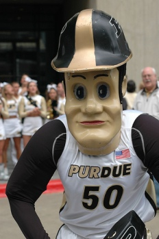 Purdue's mascot is consistently voted most likely to star in Texas Chainsaw Massacre