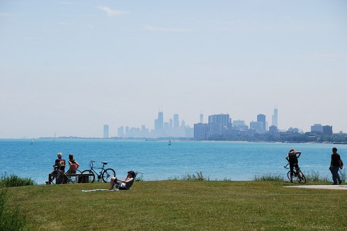 Lake Michigan was reportedly near a rolling boil.
