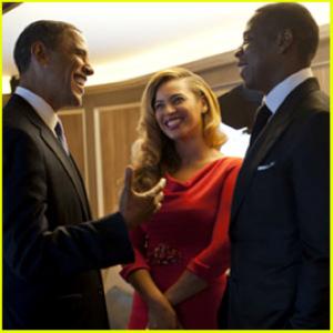 Odds Obama brings along B and Hova – 127%