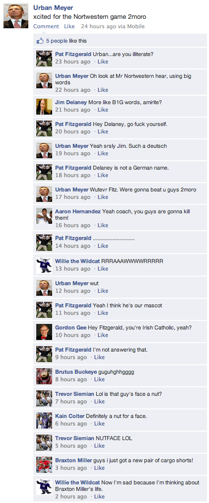 facebook urban meyer