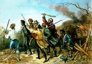 If you're a real 90s kid, you'll remember the Whiskey Rebellion (captured in the above image), which occurred when a small but armed group of farmers protested a tax that the federal government had levied on leftover grains that the farmers then used to distill hard alcohol.