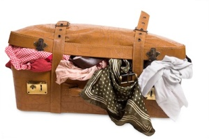 F.J.'s suitcase, in all its atrocious glory.