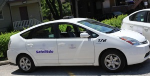 Pictured: One of the many one Saferide car (via Northwestern).